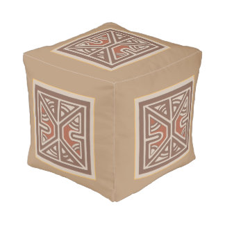 Papua New Guinea Small Cube Pouf
