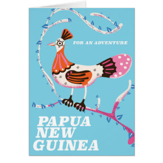 Papua New Guinea Travel poster Card