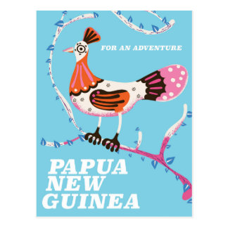 Papua New Guinea Travel poster Postcard