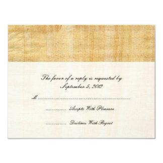 Papyrus Paper Wedding RSVP Card