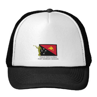 PAQUA NEW GUINEA  PORT MORESBY MISSION LDS CTR TRUCKER HAT