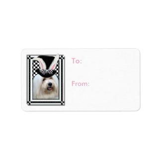 Pâques - un certain lapin vous aime - coton de étiquette d'adresse