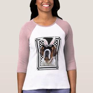 Pâques - un certain lapin vous aime - St Bernard Tshirts
