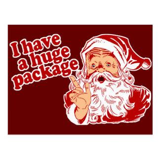 Paquet énorme de Santa Carte Postale