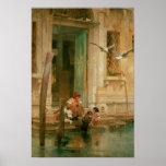 Par le canal, Venise Affiches
