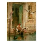 Par le canal, Venise Carte Postale