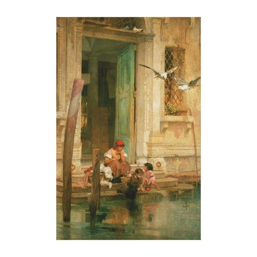 Par le canal, Venise Impressions Sur Toile