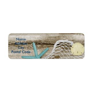 Par les étiquettes de adresse de retour de mer étiquette d'adresse retour