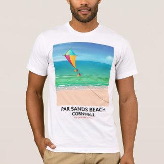 Par Sands Beach Cornwall beach travel poster T-Shirt