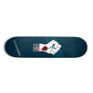 Par SES blessures - bleu Plateaux De Skate