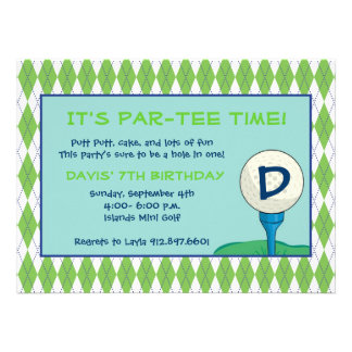 Par-Tee Time Boy Announcements