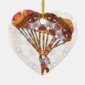 Para gliding 05 ceramic heart ornament