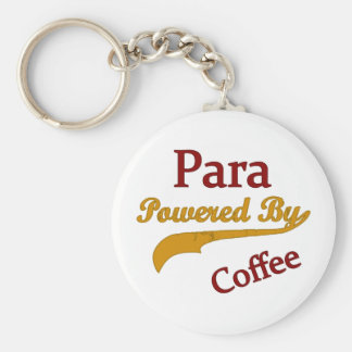 Para Powered By Coffee Keychain