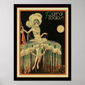 Para Todos Art Deco Poster 12 x 16