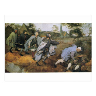 Parable of the Blind by Pieter Bruegel the Elder Postcard