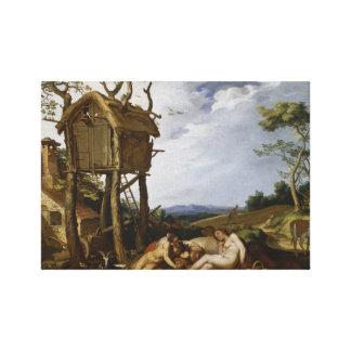 Parable of Wheat, Tares - Abraham Bloemaert (1624) Canvas Print