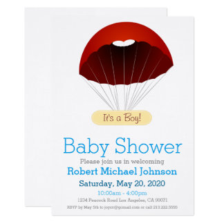 Parachute Baby Shower Invitation