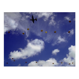 Parachute jump from Dakotas, Airborne Divisions, A Postcard