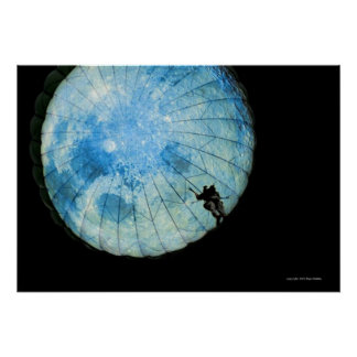 Parachute: One in Moon Poster