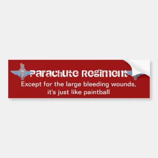 """parachute regiment """"paintball"""" sticker"""