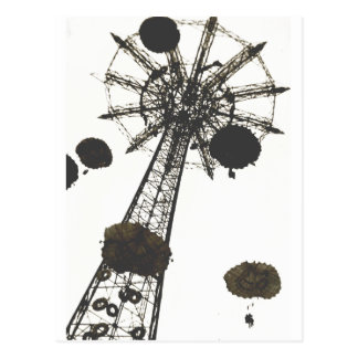 Parachute Ride Postcard