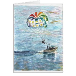 Parachute sailing? card