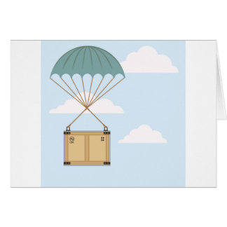 Parachute with a package card