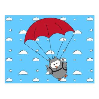 Parachuter Hooter Postcard