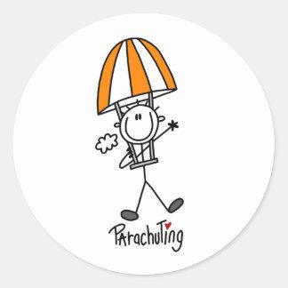 Parachuting Classic Round Sticker