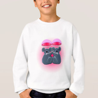parachuting cute cuddling koalas sweatshirt