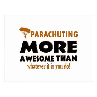 Parachuting designs postcard