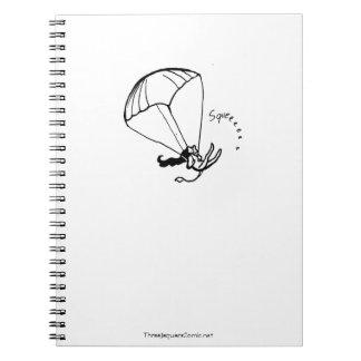 Parachuting Jaguar Artist Notebook! Spiral Note Books