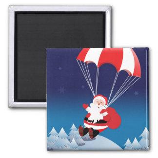Parachuting Santa Magnet