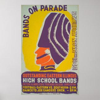 Parade Bands Vintage Poster