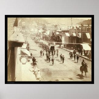 Parade Celebrating Deadwood Gold Silver SD 1888 Poster