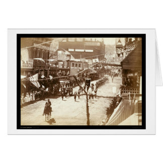 Parade Celebrating Deadwood Railroad SD 1888 Card