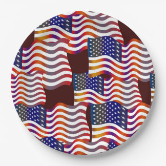Parade Of Flags Veterans Day Party Paper Plates