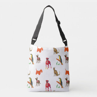 Parade of Pets Cats Dogs Toucan Crossbody Bag