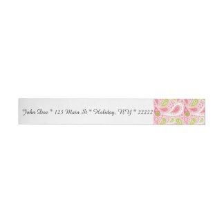 Parade of Pink Paisley Wraparound Address Label