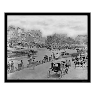 Parade on Pennsylvania Avenue, Washington, DC 1865 Poster