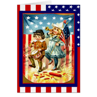 Parading on the 4th of July Card