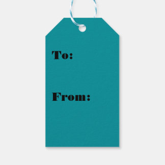 Paradingly Posh Teal Color Gift Tags