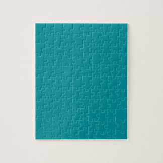 Paradingly Posh Teal Color Jigsaw Puzzle