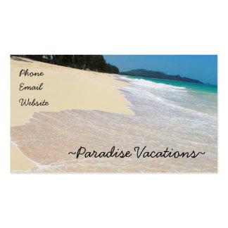Paradis Cartes De Visite Personnelles