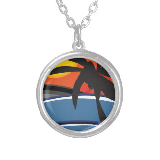 Paradise 01 silver plated necklace