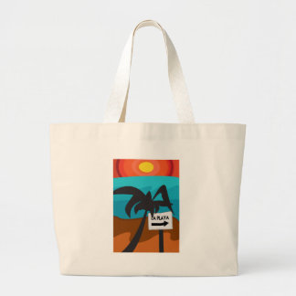 Paradise 02 large tote bag
