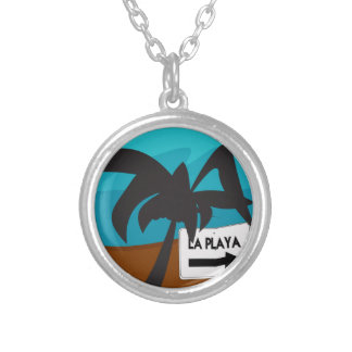 Paradise 02 silver plated necklace
