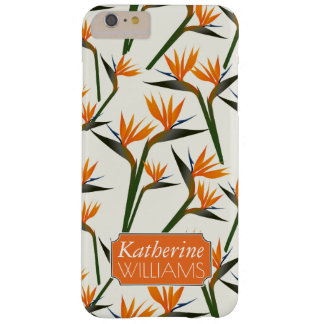 Paradise Bird Flower Pattern | Add Your Name Barely There iPhone 6 Plus Case