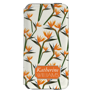 Paradise Bird Flower Pattern | Add Your Name Incipio Watson™ iPhone 6 Wallet Case