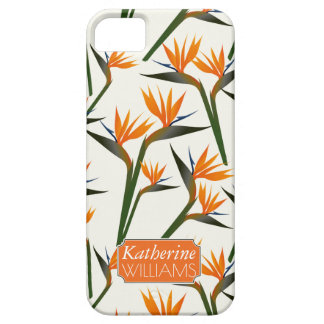 Paradise Bird Flower Pattern | Add Your Name iPhone 5 Cases
